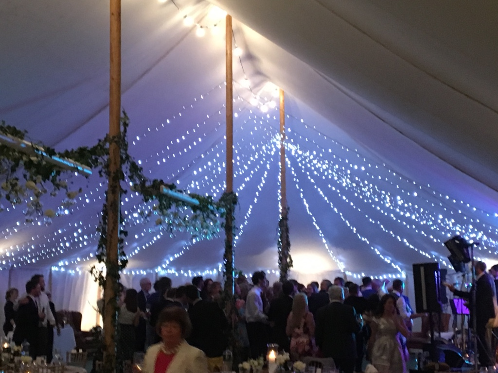 Traditional Canvas Marquee - inside